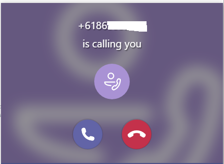 call incoming