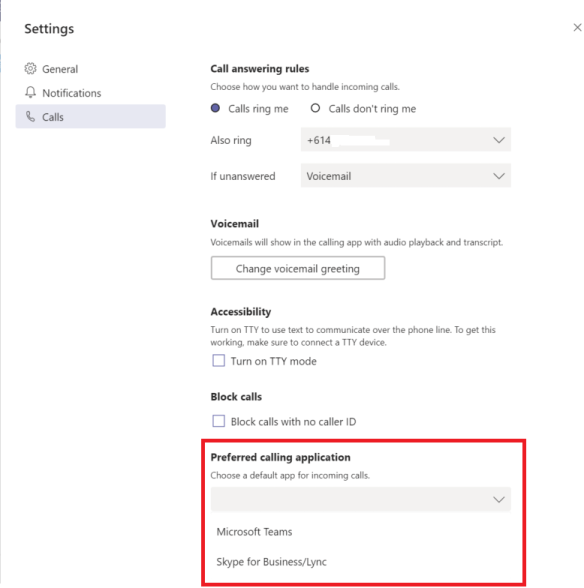 Microsoft Teams Calling Application Preference | Real-Time
